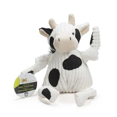 HuggleHounds Cow Knottie Plush Dog Toy