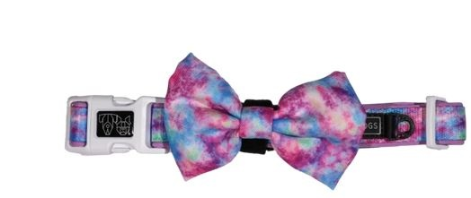 Big and Little Dogs Tie Dye For Dog Collar and Bow Tie