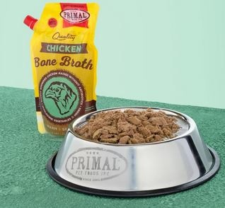 Primal Dog & Cat Chicken Bone Broth, 20 oz