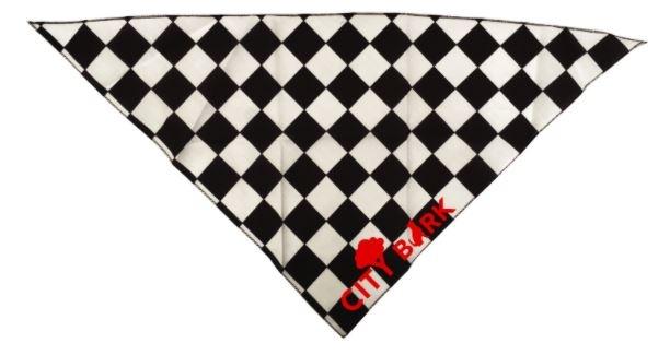 City Bark Checkerboard Dog Bandana