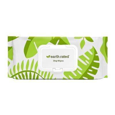 Earthrated Unscented Compostable Dog & Cat Grooming Wipes, 100 Ct