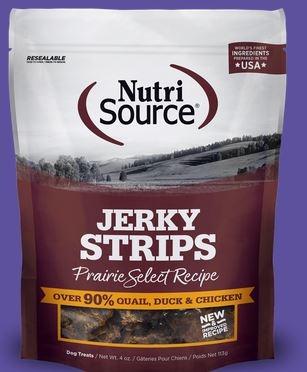 Nutri Source Prairie Select Grain Free Jerky Dog Treats, 4 oz