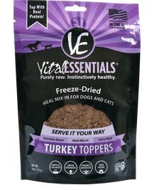 Vital Essentials Turkey Freeze-Dried Grain Free Meal Topper, 6 oz