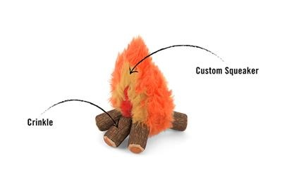 P.L.A.Y. Camp Corbin Cozy Campfire Plush Dog Toy