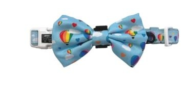 Big and Little Dogs Up, Up and Away Dog Collar & Bow Tie