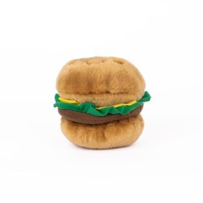 Zippy Paws Hamburger Plush Dog Toy