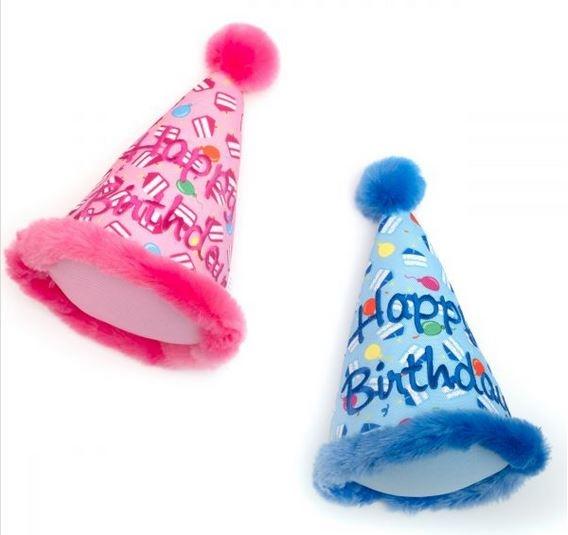 The Worthy Dog Birthday Hat Dog Toy