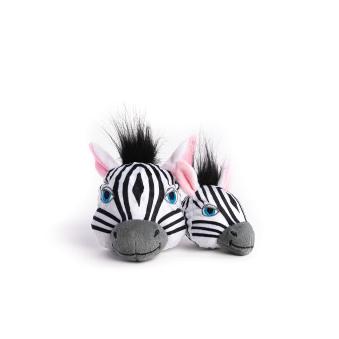 Fabdog Zebra faball Squeaky Dog Toy Medium