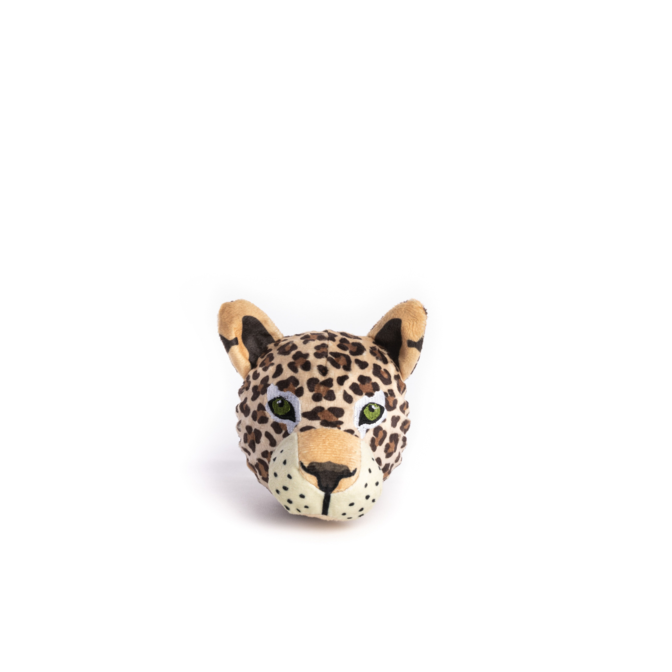 Fabdog Leopard faball Squeaky Dog Toy Small