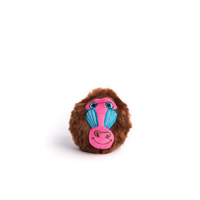 Fabdog Baboon faball Squeaky Dog Toy Small
