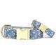 The Foggy Dog Chambray Floral Dog Collar
