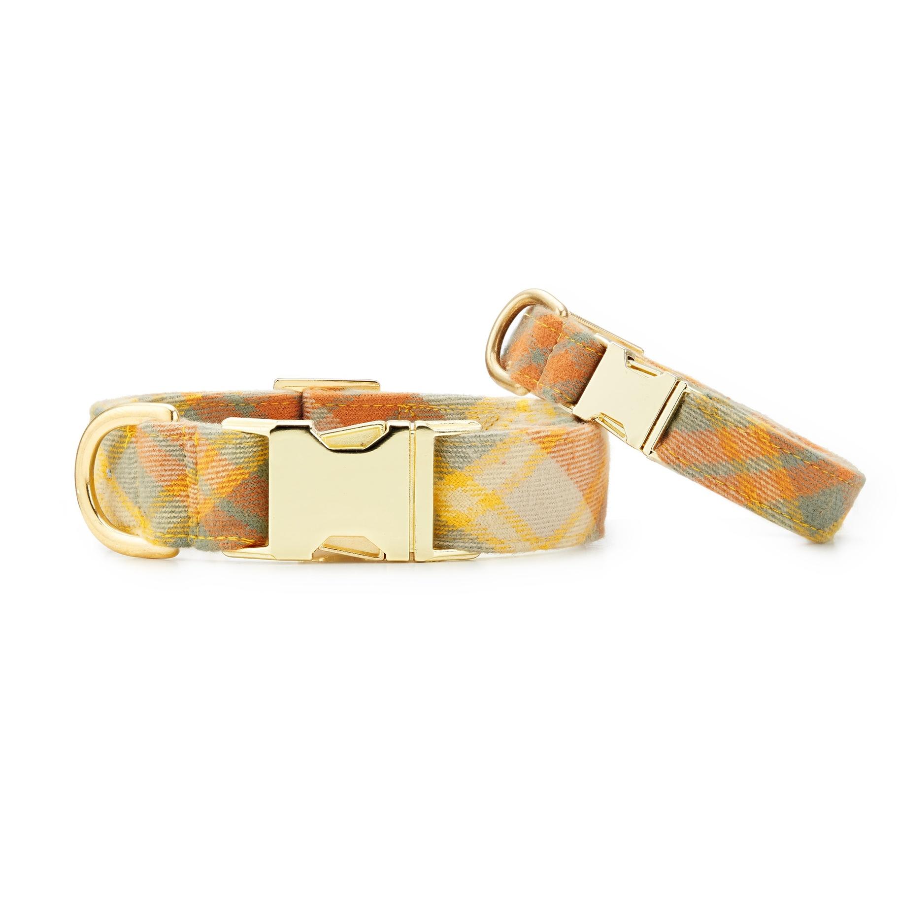 The Foggy Dog Harvest Plaid Flannel Dog Collar