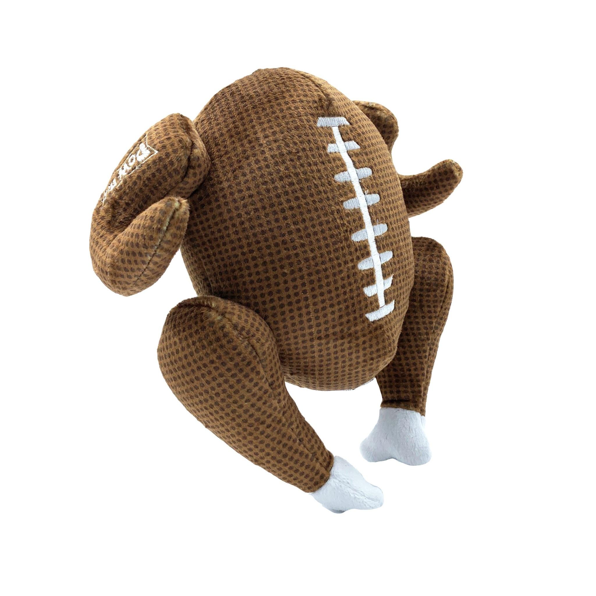 Lulubelle's Power Plush Turkey Bowl Dog Toy