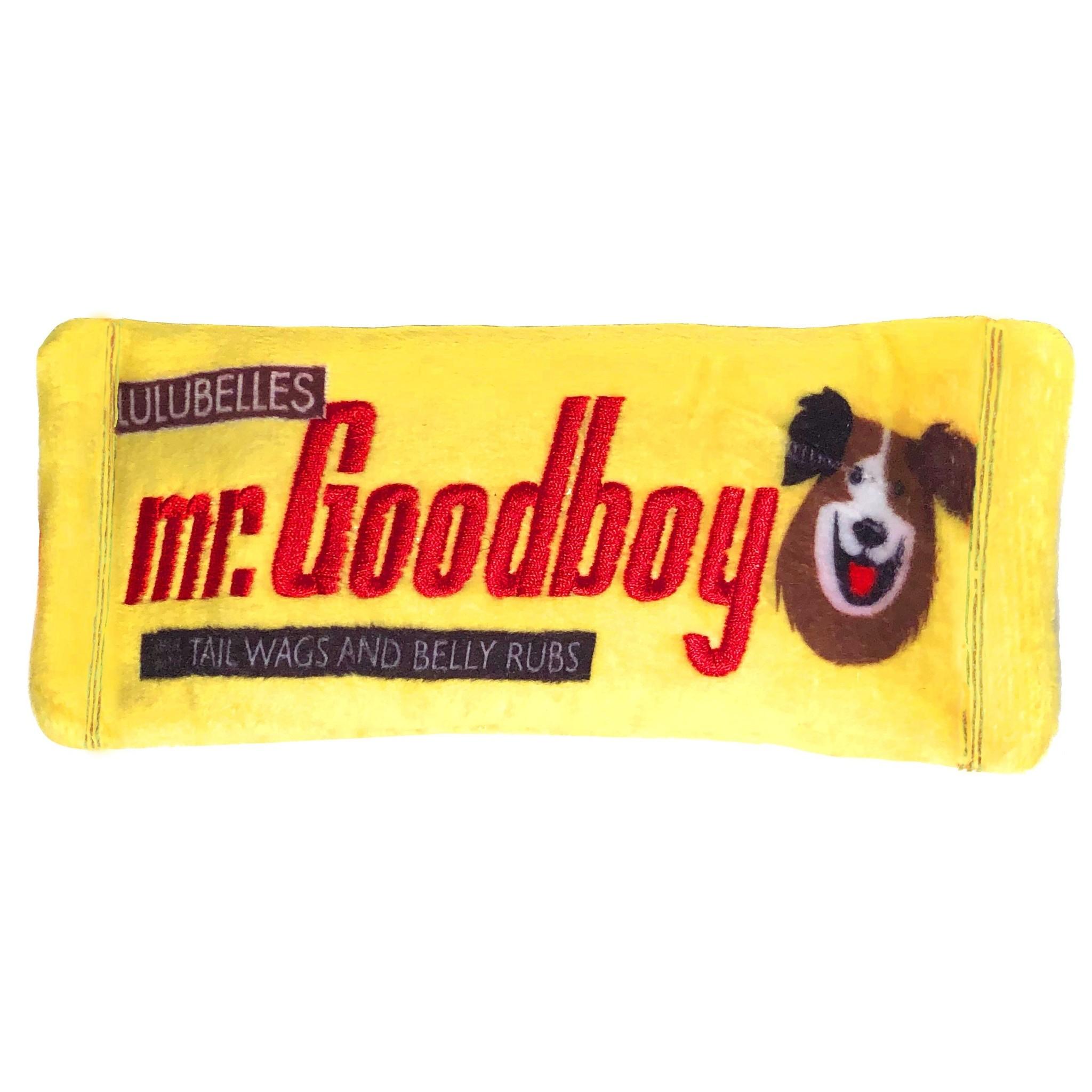 Zippy Paws Power Plush Mr. Goodboy Dog Toy Small