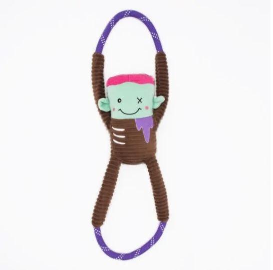 Zippy Paws Halloween Zombie Rope Tug Dog Toy