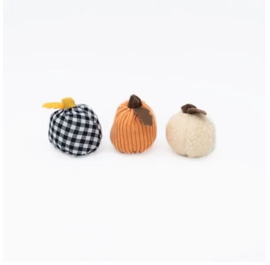Zippy Paws Halloween Gourd 3-pack Dog Toy