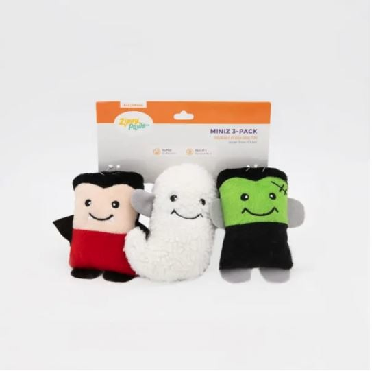 Zippy Paws Halloween Monsters 3-pack Dog Toy
