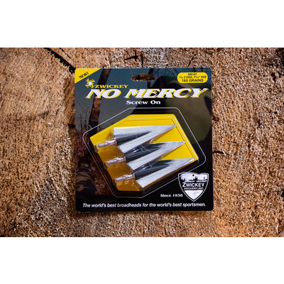 Zwickey Zwickey No Mercy 165gr 2 Blade Broadhead