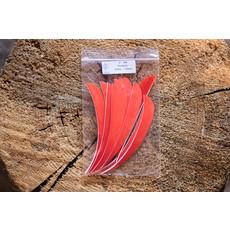 "Lodgepole Outdoors 5"" RW Solid Parabolic Cut Fletch"