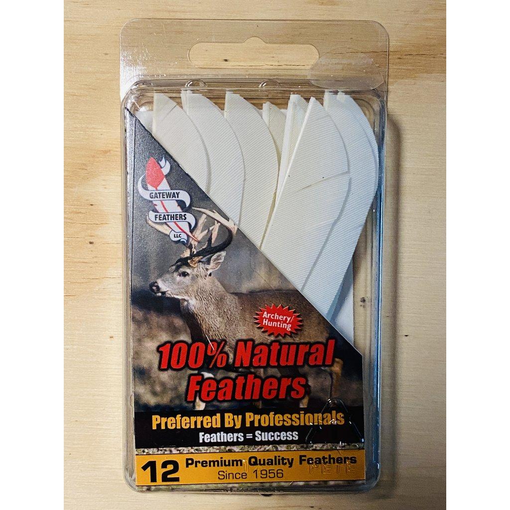 """Gateway Feathers 4"""" RW Solid Parabolic Gateway Fletches"""