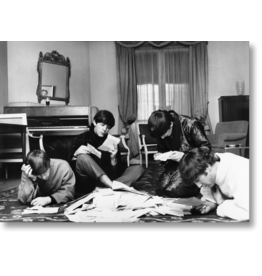 Benson The Beatles Reading Fan Mail, 1964 by Harry Benson