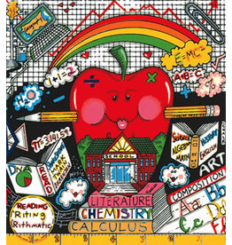 Fazzino An Apple a Day Makes School OK DX by Charles Fazzino