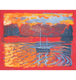 Lasker Red Marinescape by Joe Lasker (Original)