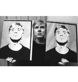 Heyman Andy Warhol with Portraits, 1964 by Ken Heyman