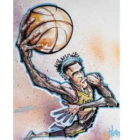 Ball Lonzo Ball Lakers by Johnathan Ball (Signed by Lonzo Ball)