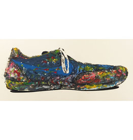 Brainwash Blue Shoe by Mr. Brainwash