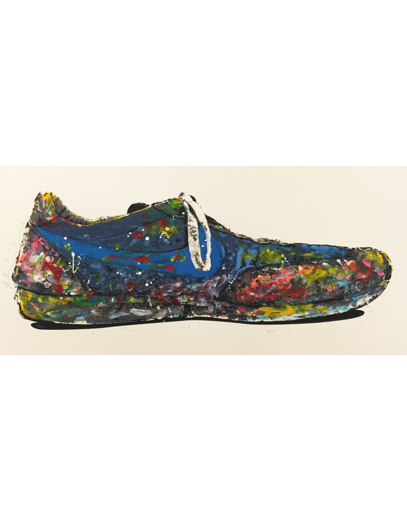 Brainwash Blue Shoe by Mr. Brainwash