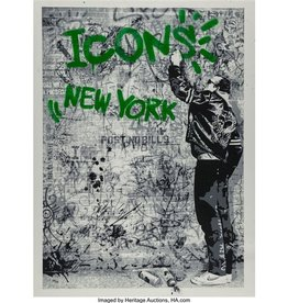 Brainwash The Wall (Green) by Mr. Brainwash