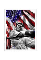 Brainwash Ali American Hero by Mr. Brainwash