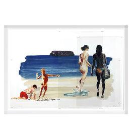 Fischl Girls Walking Boy Throwing by Eric Fischl