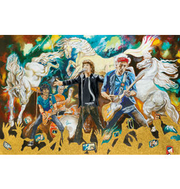 Wood Electric Horses by Ronnie Wood