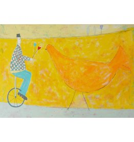 Spence Unicycle and Bird by Annora Spence