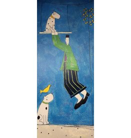 Spence Dog On A Swing by Annora Spence