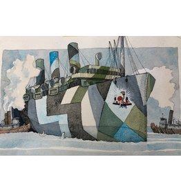 Lasker Ship Camouflage by Joe Lasker (Original)