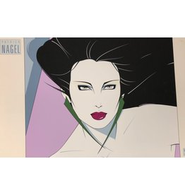 Nagel Woman With Green Earings by Patrick Nagel