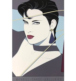 Nagel Woman With Purple Earings by Patrick Nagel