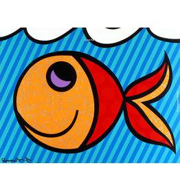 Britto Boom Fish by Romero Britto (Signed Poster)