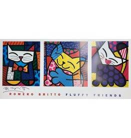 Britto Fluffy Friends by Romero Britto (Signed Poster)