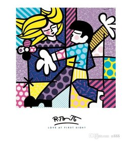 Britto Love At First Sight by Romero Britto (Signed Poster)