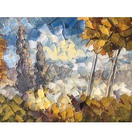 Riverin Les Deux Coniferes by Richard Riverin (Original)