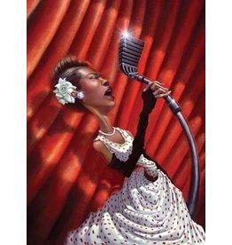 Bua Harlem Rose, Billie Holiday by Justin Bua