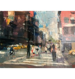 Thompson Crowd Crossing Broadway by Darren Thompson (Original)