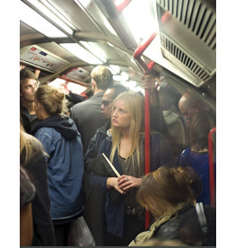 Migicovsky Alone With Her Thoughts On The London Tube by John Migicovsky