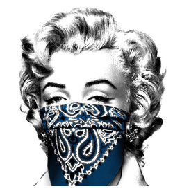 Brainwash Stay Safe (Blue) by Mr. Brainwash