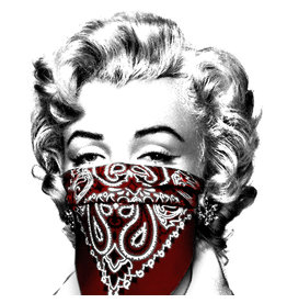 Brainwash Stay Safe (Red) by Mr. Brainwash