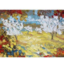 Riverin Champs d'or et Arbres en Fleurs by Richard Riverin (Original)
